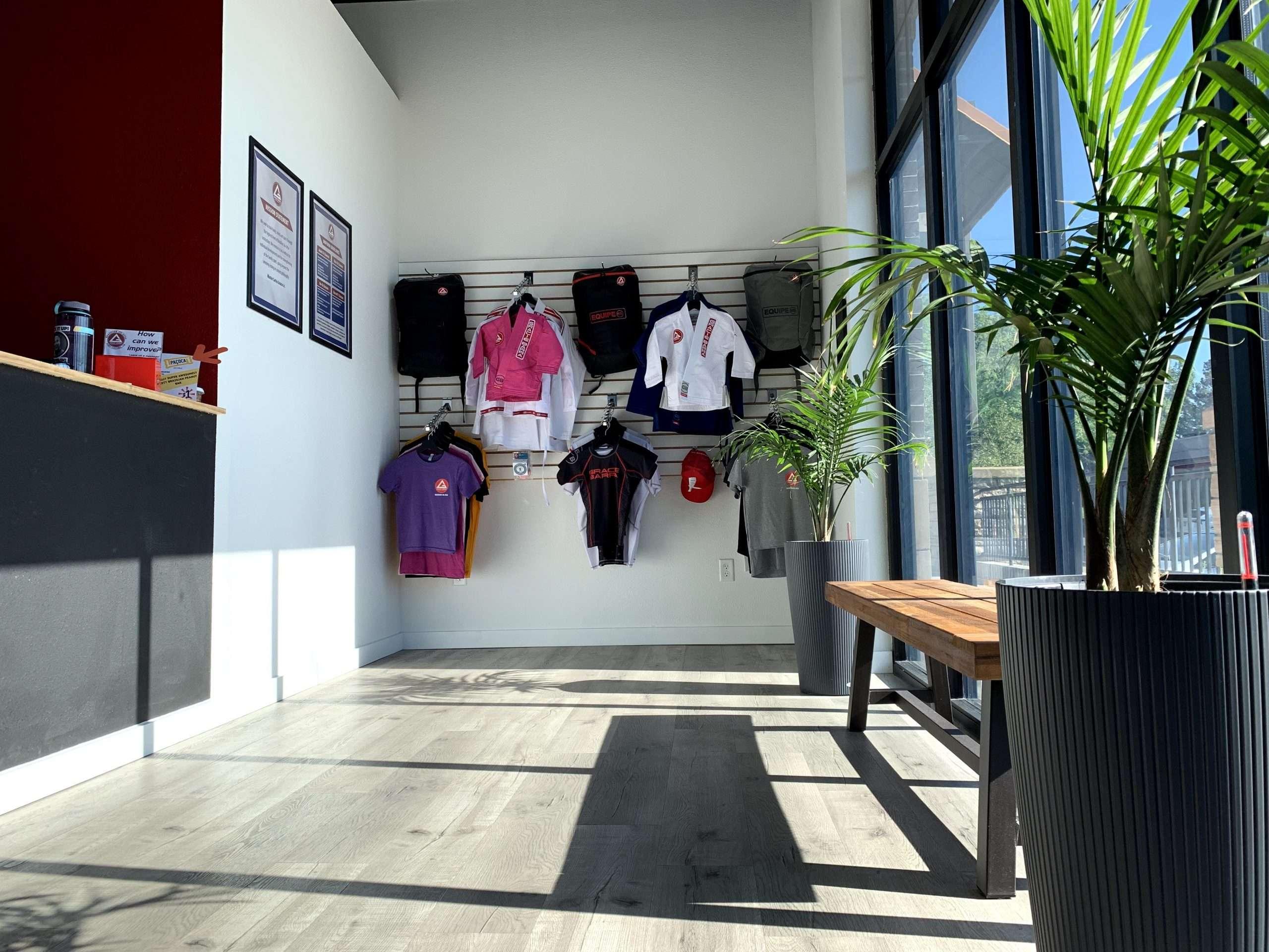 Gear shop inside Gracie Barra Fort Collins